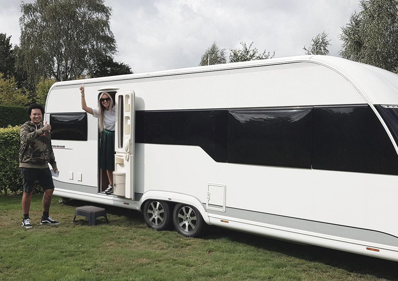 Zorgeloos caravan transport